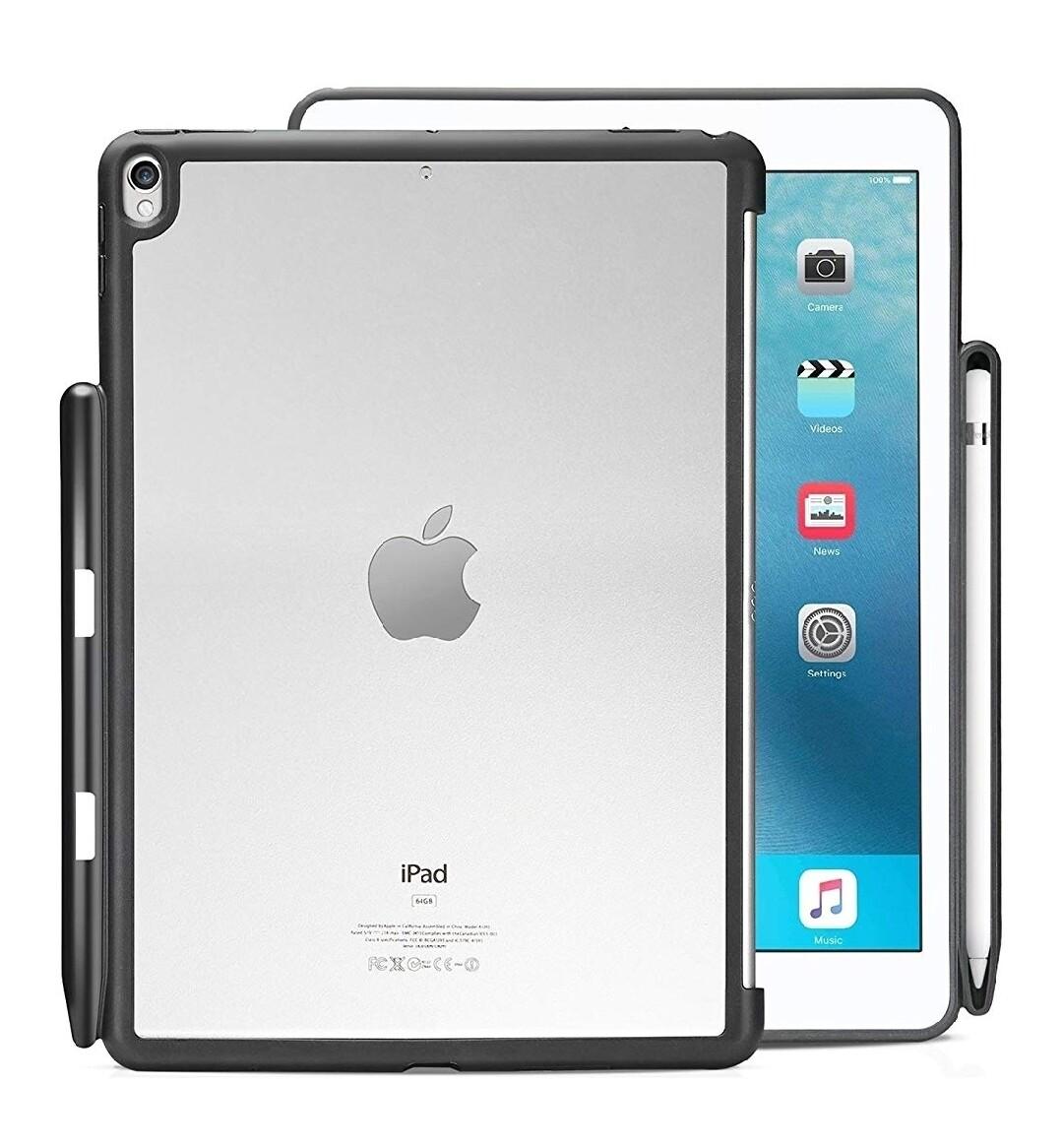 """Funda de piel sintética KHOMO para IPAD PRO 10.5"""" @ c/ teclado y funda Apple Smart, Transparente"""