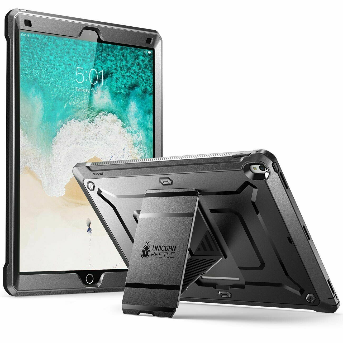 Case Protector Apple iPad Pro 12,9 pulgadas 2017 A1670 A1671 A1821 Recios - Negro