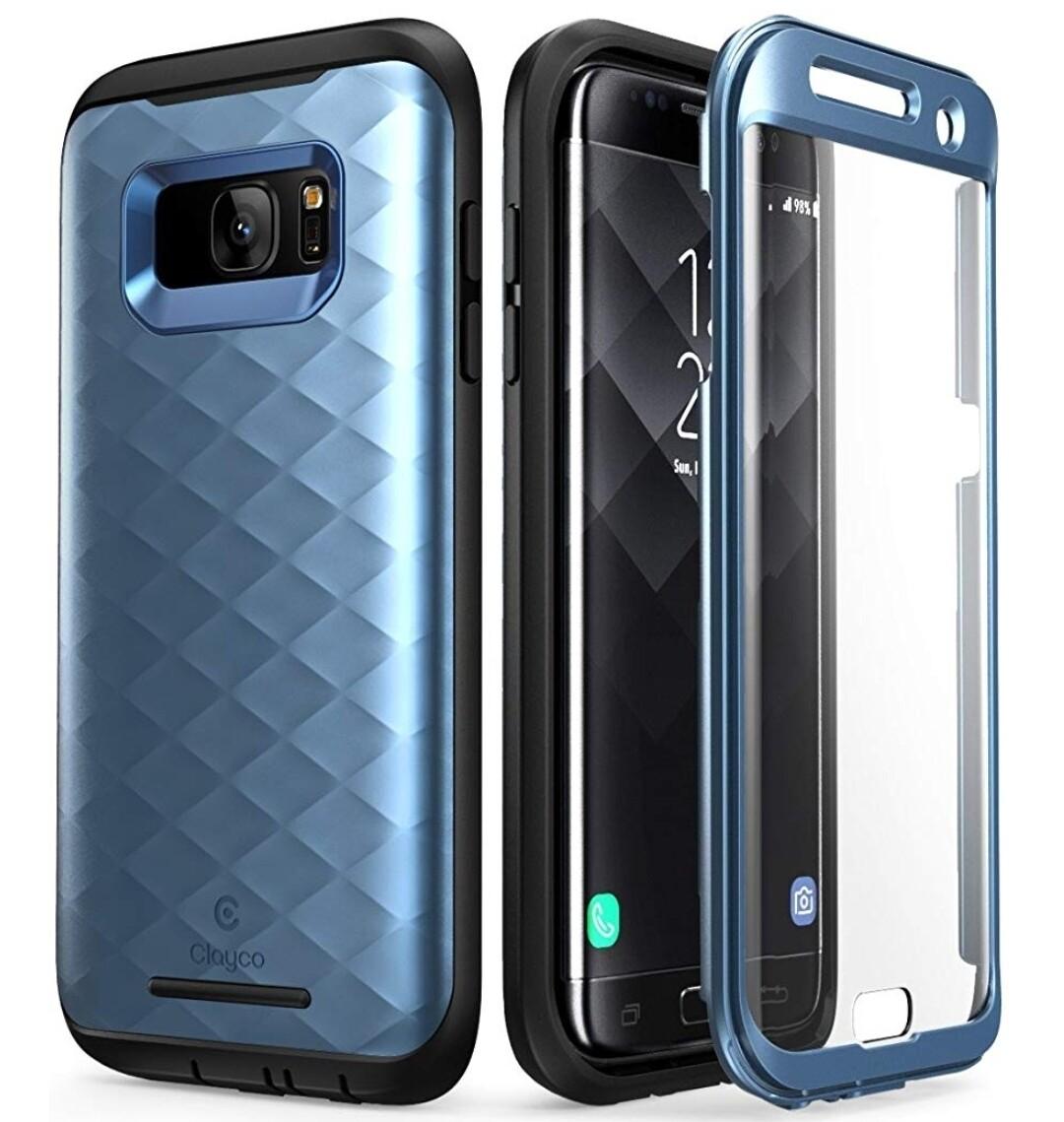 Case Galaxy S7 Edge Clayco USA Azul Frost de 3 partes