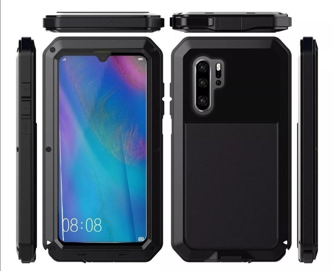 Case Huawei P30 Pro P30 Metal c/ Pernos c/ Tetra poliuretano - Negro