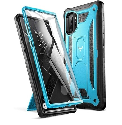 Case Funda Galaxy Note 10 Plus c/ Mica Integrada c/ Parador Vert-Horz - Azul