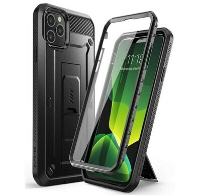 "Case IPHONE 11 PRO MAX 6.5"" Armor USA c/Gancho c/ Mica c/ Soporte Inclinable"