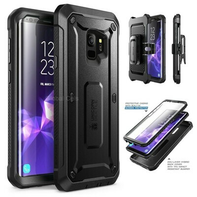 Case Galaxy S9 Normal Protector USA Extremo 360 c/ Mica c/ Gancho