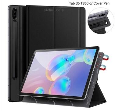 Case Smart Flip Galaxy Tab S6 T860 c/Cover Pen Magnético USA