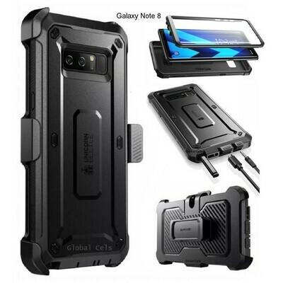 Case Protector Galaxy Note 8 Carcasa USA 360 c/ Mica c/ Gancho para llevar en Correa