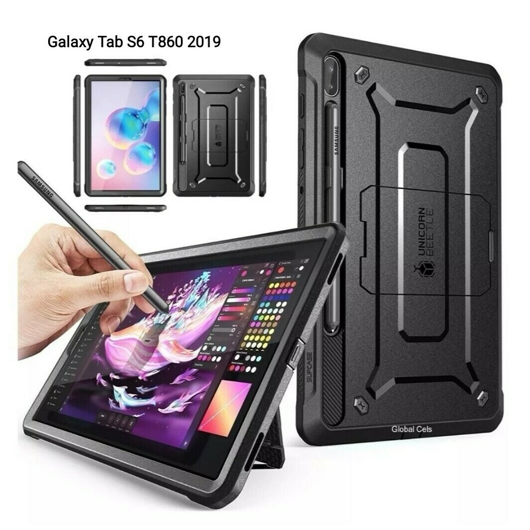 Case Galaxy Tab S6 T860 2019 Recias Armadura c/ Mica c/ Parador Armor USA