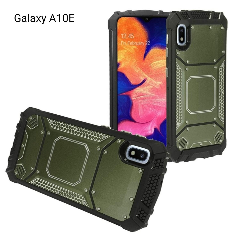 Case Galaxy A10E SM-A102 Funda Híbrida Aluminio c/ PC Verde - Negro