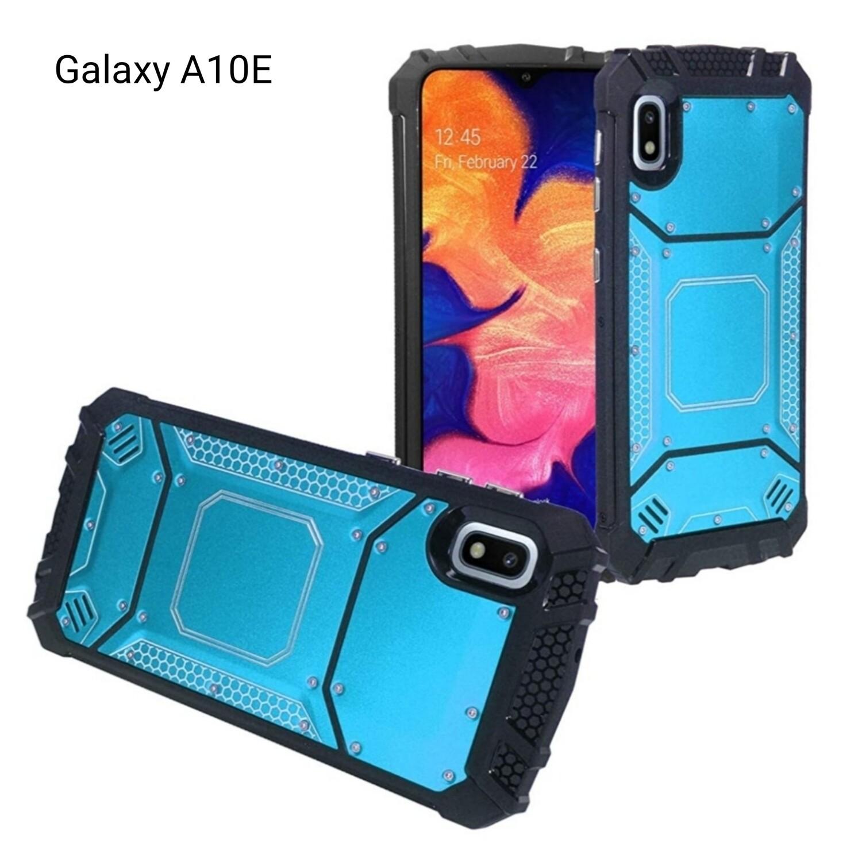 Case Galaxy A10E SM-A102 Funda Híbrida Aluminio c/ Policarbonato Turquesa - Negro