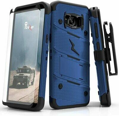 Case Galaxy S8 Plus S8 + Z-bold Azul con bordes negros c/ Vidrio Templado