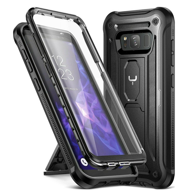 Case Galaxy S8 Normal Funda c/ Parador c/ Mica Integrada Carcasa de cubierta total Negra