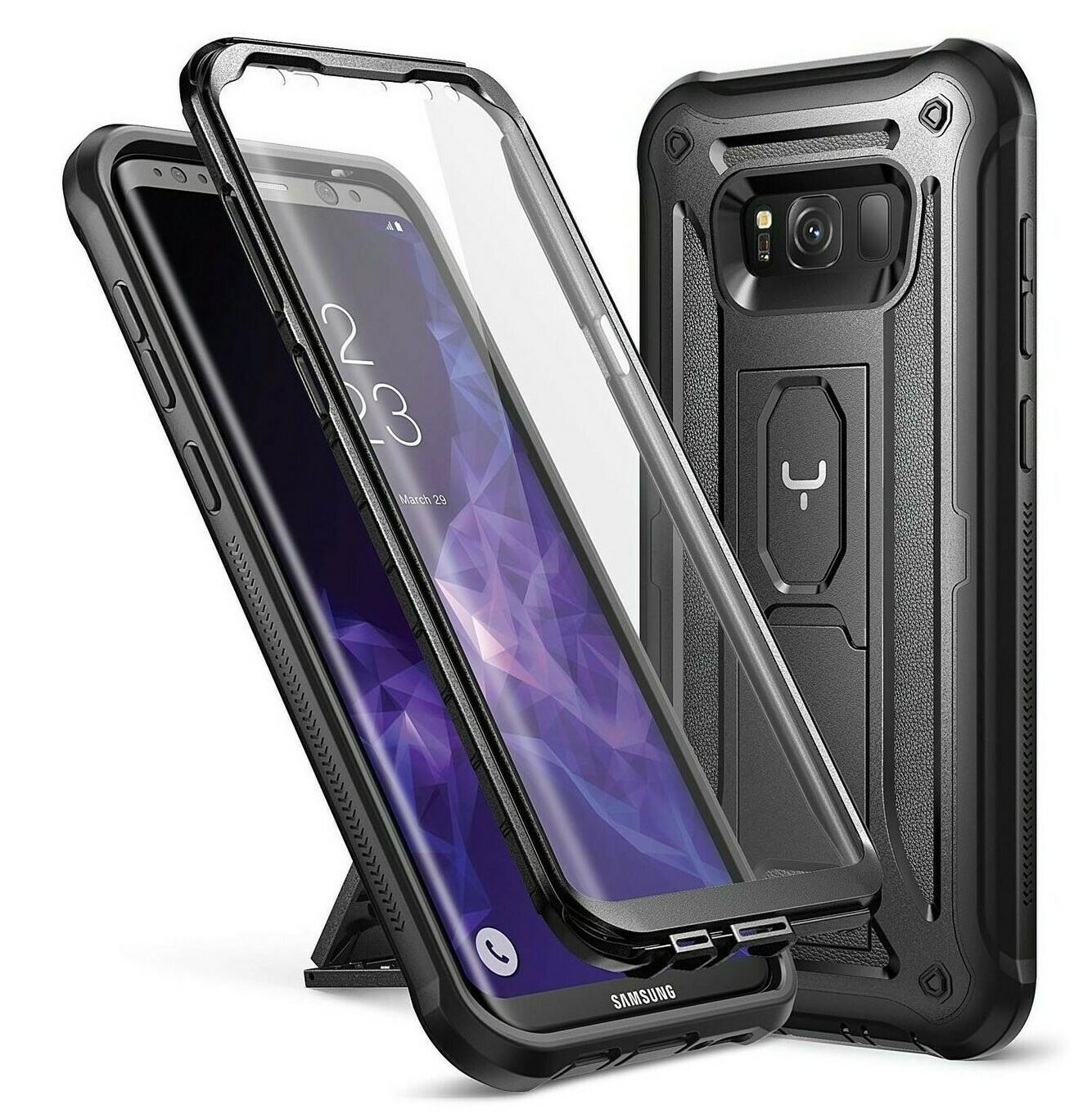 Case Galaxy S8 Plus c/ Parador c/ Mica Integrada Carcasa 360 Negro