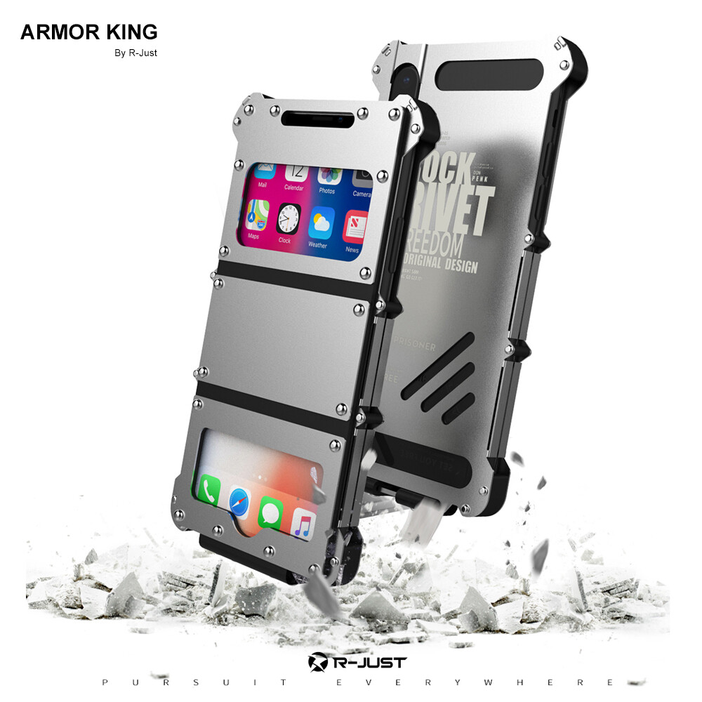 Case iPhone X iPhone Xs Max Tapa Acero Protector Armor King