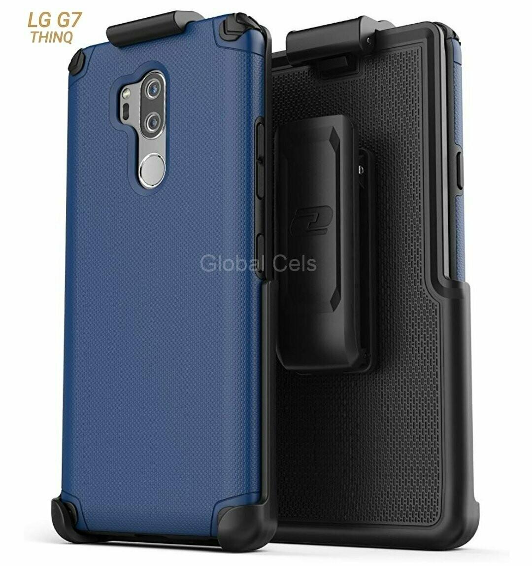 Case LG G7 fino c/ Clip de cinturón funda Encased c/ Tapa Vertical