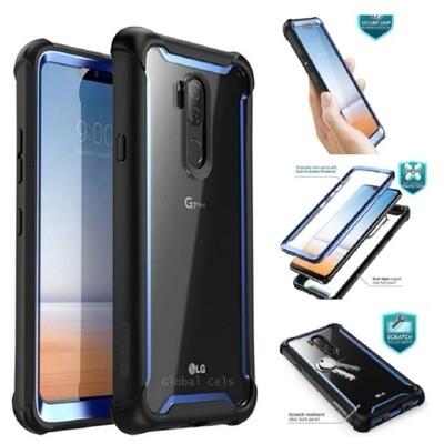 Case Funda LG G7 ThinQ i-Blason Ares USA Rígida transparente con protector de pantalla Azul