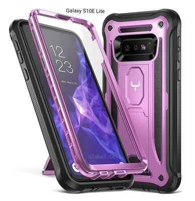 Case Funda Galaxy S10E S10 Lite c/Soporte Vertical Horizontal Morado