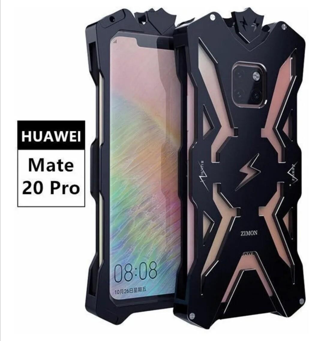 Case Huawei Mate 20 Pro Metal con Pernos Negro