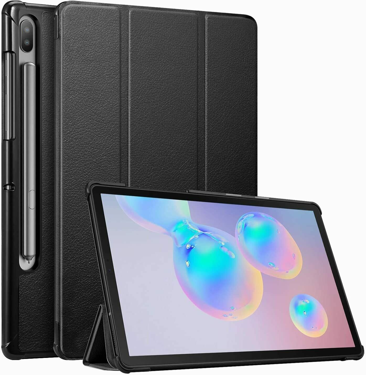 """Funda Flip Galaxy Tab S6 10.5"""" 2019 SM-T860 ligera función Atril, con Encendido y Apagado automático"""