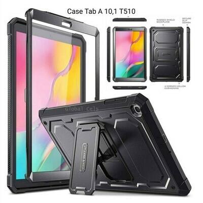 Carcasa Case Samsung Galaxy Tab A 10.1 2019 (SM-T510/T515) de cuerpo completo resistente con protector de pantalla Negra
