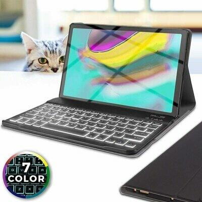 Funda @ teclado Samsung Galaxy Tab S5e 10.5 2019 Bluetooth Retro Iluminado negro