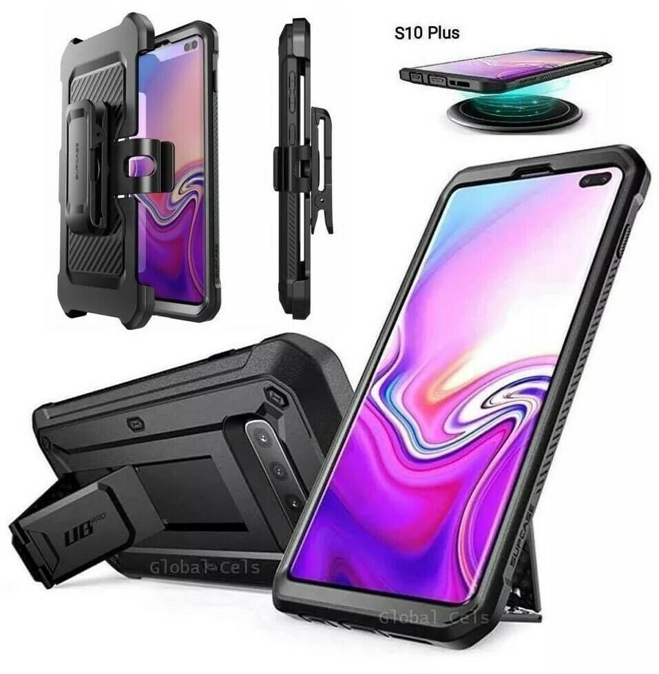 """Case Galaxy S10 Plus 6.4"""" 2019 Carcasa 360 de tapas Todo Negro"""