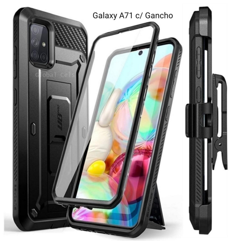 Case Funda Galaxy A71 Extremo c/ Gancho Correa c/ Mica c/ Parador