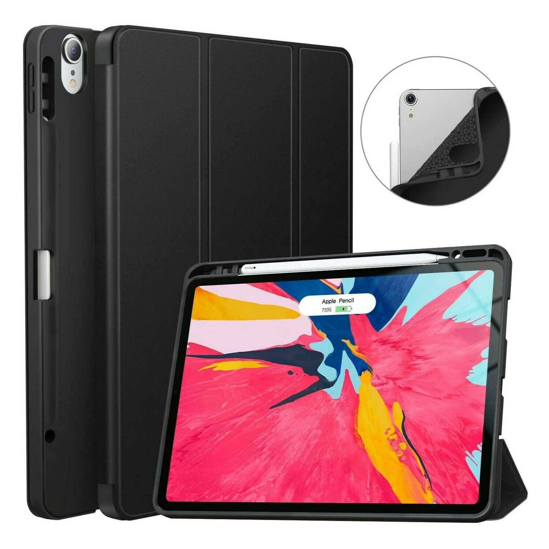 Case Ipad Pro 12,9 2018 3ra Gen con Soporte Lápiz Magnético Apagado Automático Negro