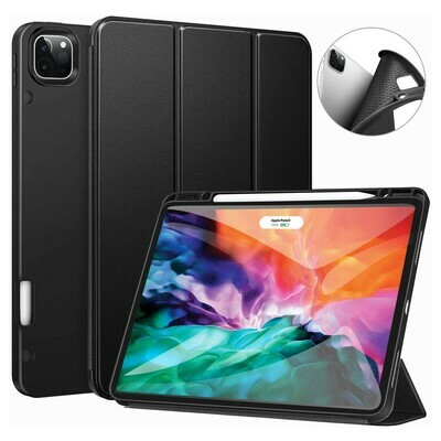 Case Ipad Pro 12,9 2020 con Porta Lápiz Magnético Negra 4th & 3rd Generacion
