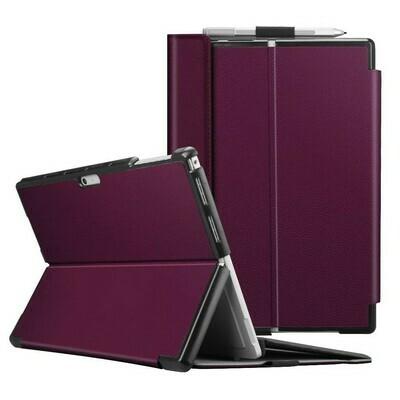 Case Surface Pro 7 6 5 4 Funda Compatible con Teclado de Cuero Morado Negro