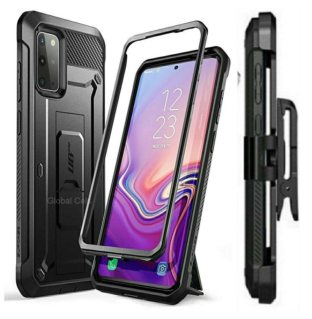 Case Protector Samsung Galaxy S20 Plus Armadura Recia c/ Gancho c/ Soporte
