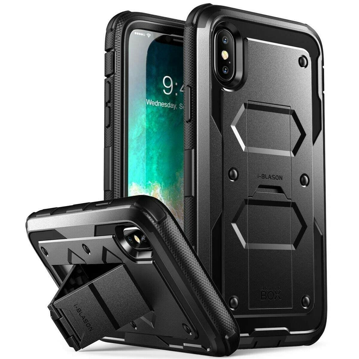 Case IPhone X / IPhone Xs Recio Protector 360 c/ Parante c/ Gancho c/ Mica