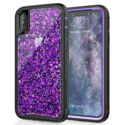Case IPhone X / IPhone Xs Recio Protector 360 Seymac Alta Proteccion en bordes Morado