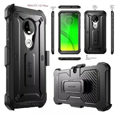 Case Moto G7 Plus Supcase c/ Gancho para Correa c/ Protector de pantalla
