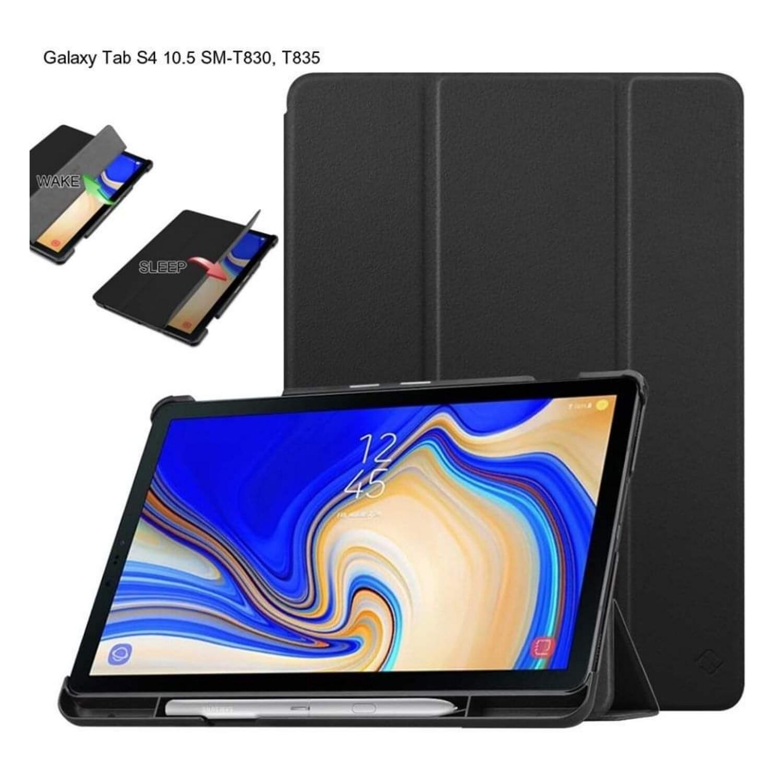 Carcasa fina para Samsung Galaxy Tab S4 10.5 SM-T830, T835 y T837 c/ Soporte Negro