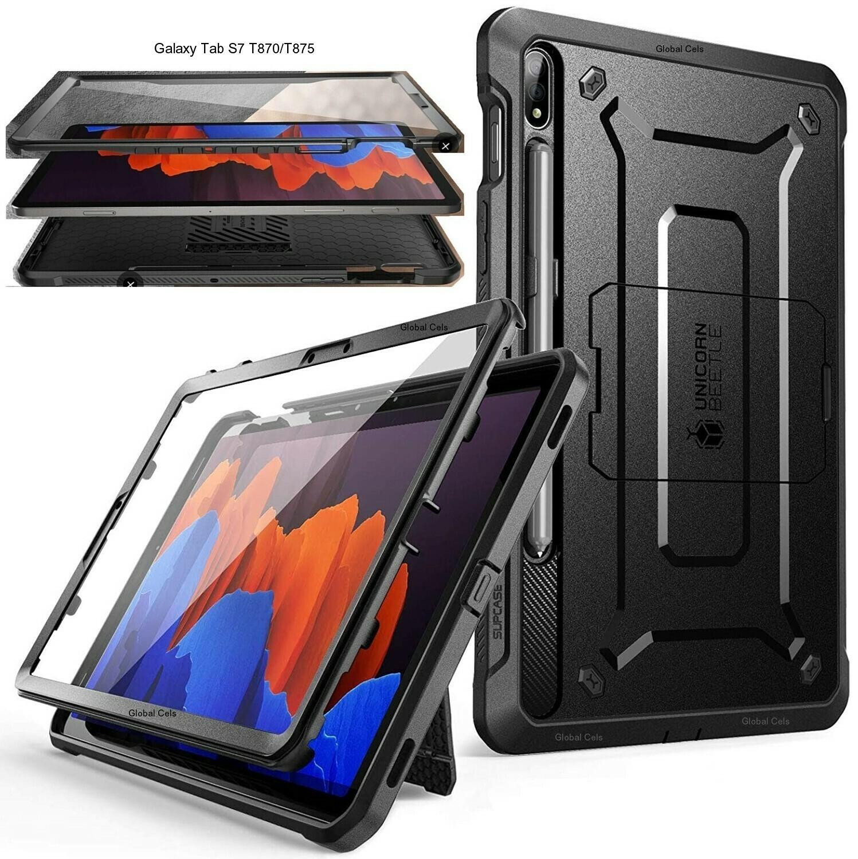 Case Super Protector Galaxy Tab S7 de 11 pulgadas SM-T870 / T875 2020 Negro