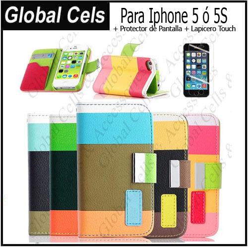 Estuche Iphone 5 5S más Protector de pantalla más Lapicero Touch