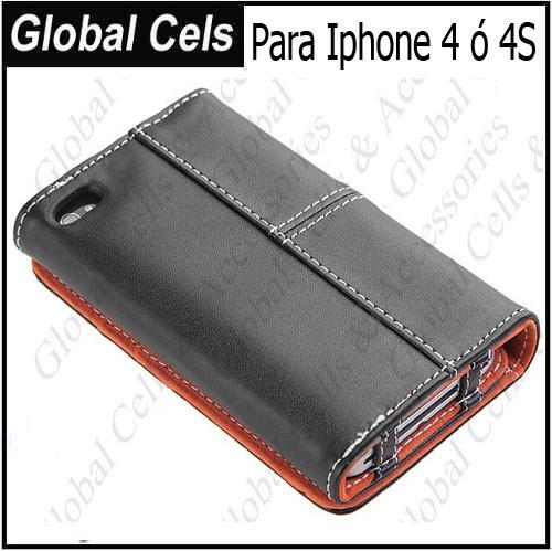 Estuche para el iPhone 4G y 4S diseño Billetera Envoltura Total