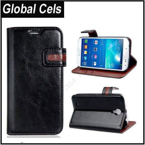 Estuche Samsung Galaxy S4 Negro con broche bicolor estilo Agenda le Calza Exacto muy Elegante