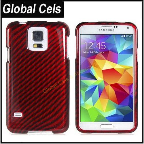 Carcasa Funda de Fibra de Carbono Samsung Galaxy S5 Anti Impactos Choques