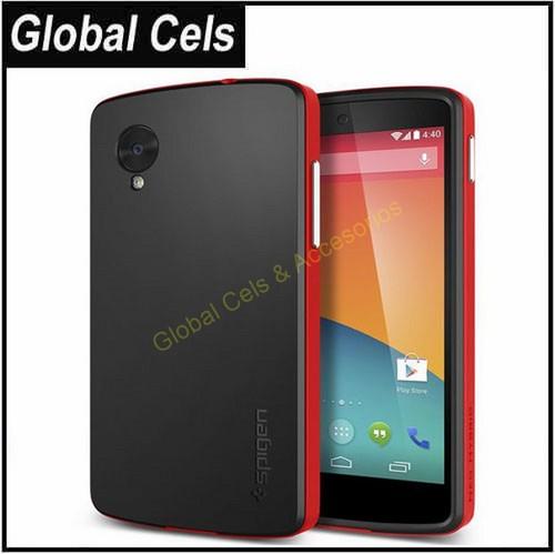 Carcasa SPIGEN LG Google Nexus 5 N5 E980 D820 D821 en Rojo SPG Calidad Reconocida