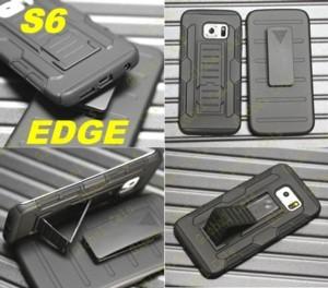 Case S6 CURVO Samsung Galaxy S6 EDGE Holster Gorila Estuche con clip para correa y con soportes