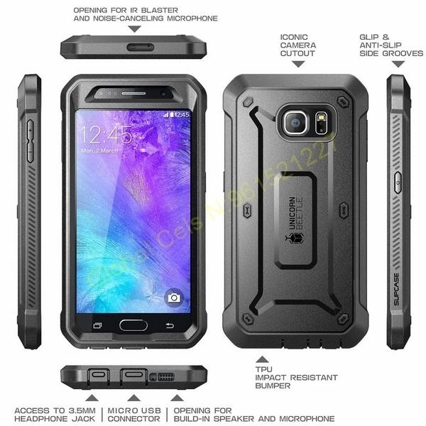 SUPCASE Samsung GALAXY S6 NORMAL con Gancho para correa y Mica Integrada