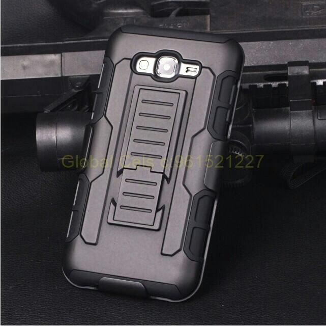 Protector Holster Samsung Galaxy J7 con clip para llevar en correa y apoyo inclinable