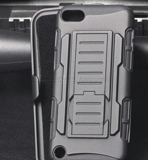 Case Ipod Touch 5g holster Gorila con gancho correa y soporte para mesa