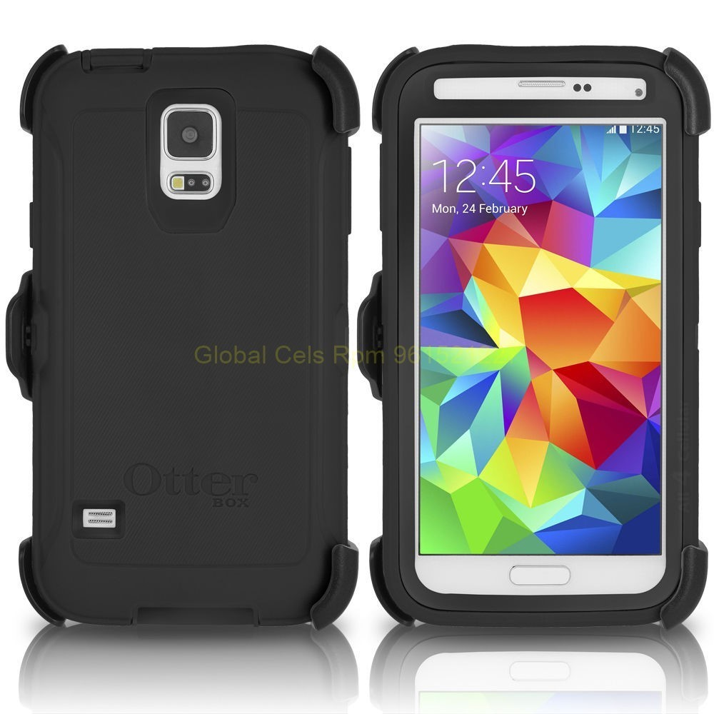 Case Samsung Galaxy S5 Otterbox Serie Defender Protector Extremo Gancho Mica