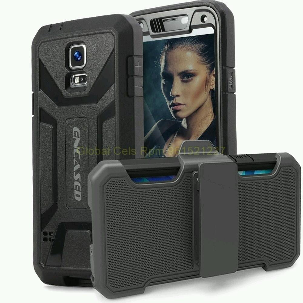 Protector GALAXY S5 de Samsung con gancho correa y Mica Incorporada