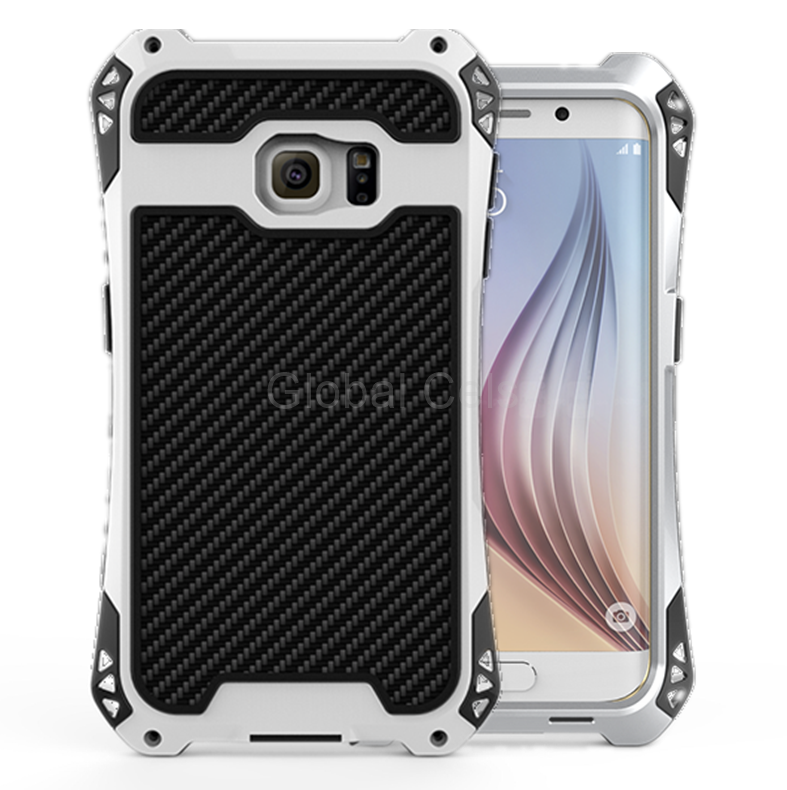 Case Funda Galaxy S6 Edge+ / Edge Plus Carcasas Metal con Pernos atornillables Rjust Amira