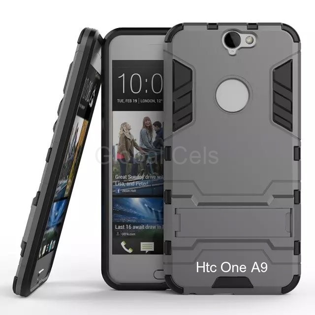 Case Funda HTC ONE A9 con parante de inclinación carcasa de 2 partes