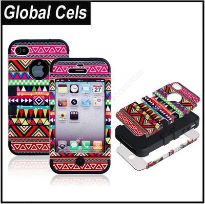 Carcasa Estuche IPhone 4 y IPhone 4s Multi Color Hiper Reforzada
