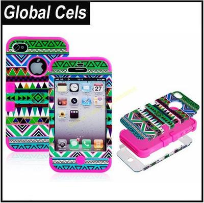 Estuche Iphone 4 / 4S Carcasa Funda Modelo Azteca Multi Colores