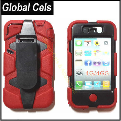 Estuche Clip Correa Iphone 4 / 4S desmontable Antipolvo Anti Golp